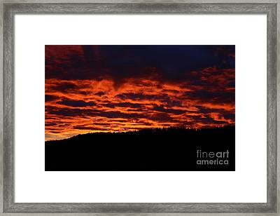 Framed Print featuring the photograph Red Sky In The Morning by Ann E Robson