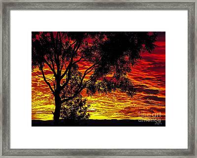Red Sky Framed Print by Janice OConnor