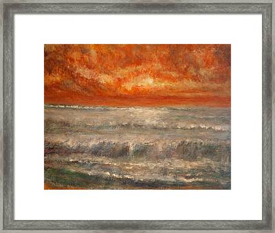 Red Sky Marine Framed Print