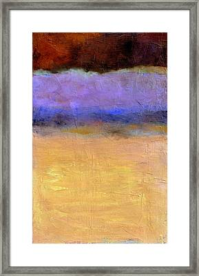 Red Sky Framed Print by Michelle Calkins