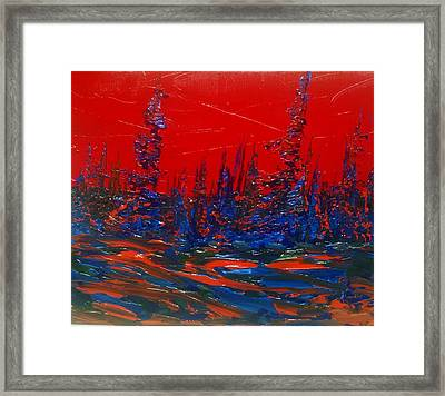 Red Sky Night Framed Print
