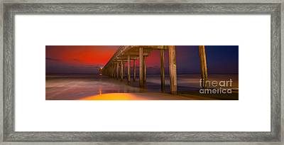 Red Sky Scripps Framed Print by Marco Crupi