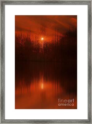 Red Sky Sunset Framed Print by Tom York Images
