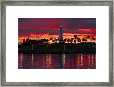 Red Skys At Night Denise Dube Photography Framed Print by Denise Dube