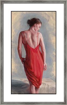Red Slip Framed Print