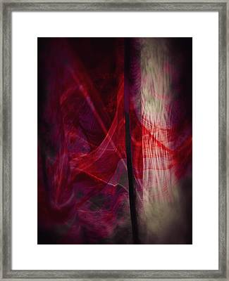 Red Smoke Framed Print by Dennis James