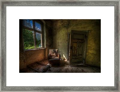 Red Sofa Framed Print by Nathan Wright