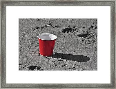 Red Solo Cup Framed Print by Trish Tritz