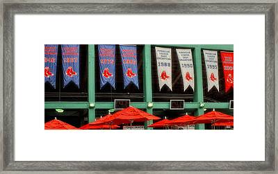 Red Sox Champion Banners Framed Print by Joann Vitali