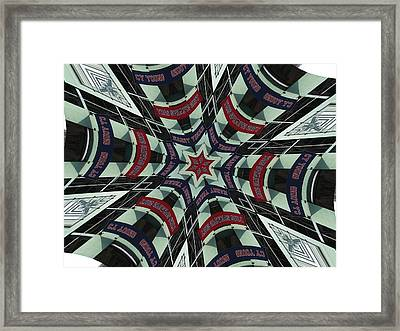 Red Sox Heroes Collide-a-scope Framed Print