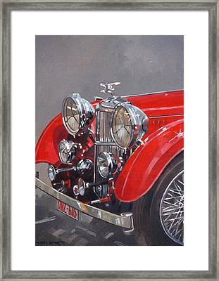 Red Sp 25 Alvis  Framed Print by Peter Miller