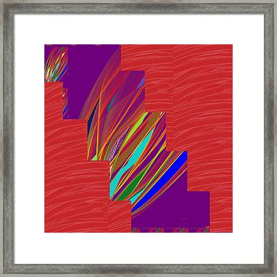 Framed Print featuring the photograph Red Sparkle And Blue Lightening Across by Navin Joshi