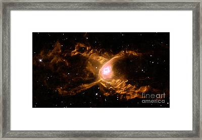 Red Spider Nebula Ngc 6537 Framed Print by Science Source