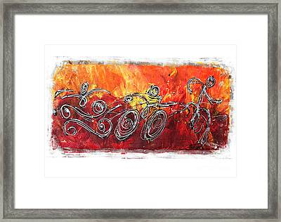 Red Splash Triathlon Framed Print