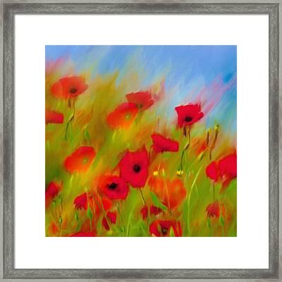Red Splendor Framed Print by Georgiana Romanovna