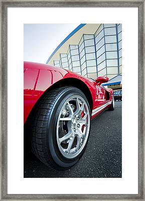 Red Sport Car Wheel  Framed Print by Ioan Panaite