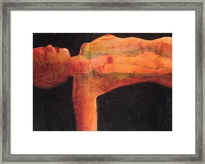 Red Spot Framed Print by Graham Dean
