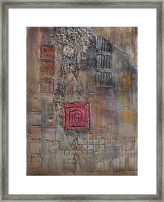 Red Square Framed Print by Buck Buchheister