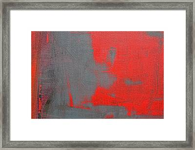 Red Square Dissected II C2010 Framed Print by Paul Ashby