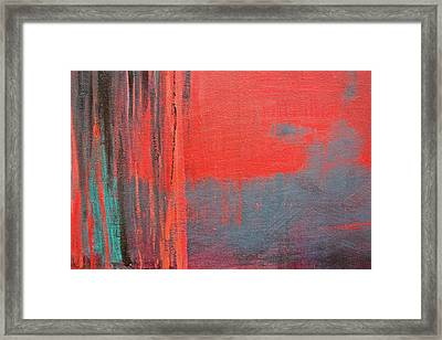 Red Square Dissected Iv  C2010 Framed Print by Paul Ashby