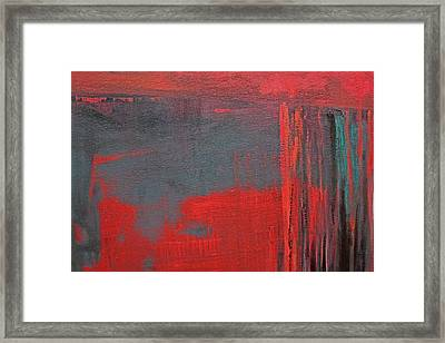 Red Square Dissected V  C2010 Framed Print by Paul Ashby