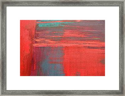 Red Square Dissected Vii  C2010 Framed Print