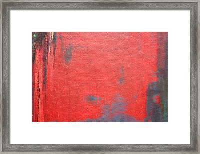 Red Square Dissected X  C2010 Framed Print