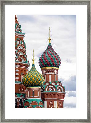 Red Square - St Basils - Moscow Russia Framed Print by Jon Berghoff