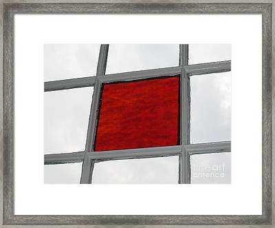 Red Square Framed Print by Thomas Carroll