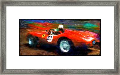 Red Stallion Framed Print by Alan Greene