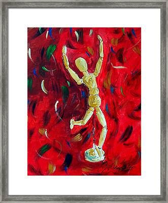 Red Stance Framed Print by Cynthia Hudson