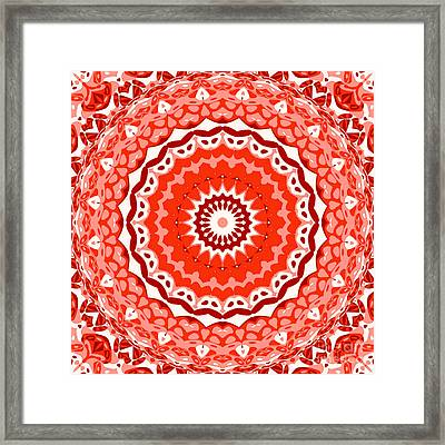 Red Star Framed Print by Ron Brown