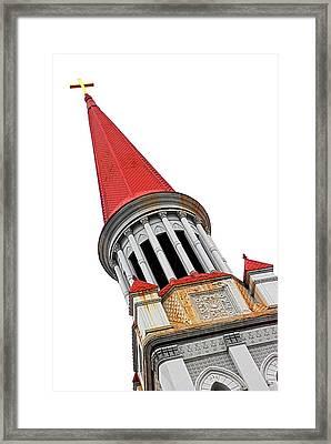 Red Steeple Church Framed Print