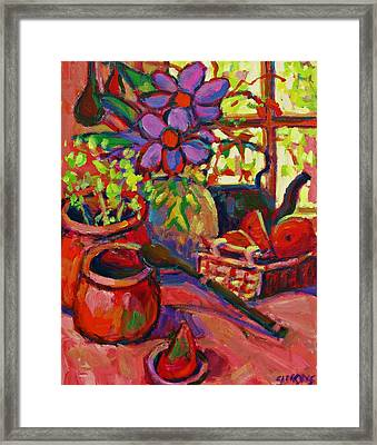 Red Still Life Framed Print by Brian Simons
