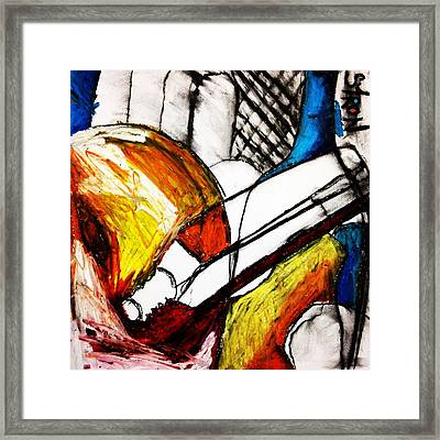 Red Still Life Framed Print by Helen Syron