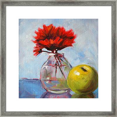 Red Still  Framed Print by Nancy Merkle