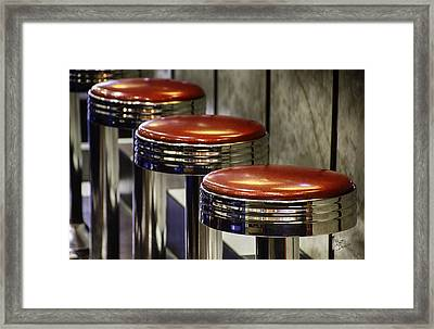 Red Stools Framed Print