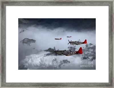 Red Storm Framed Print by J Biggadike