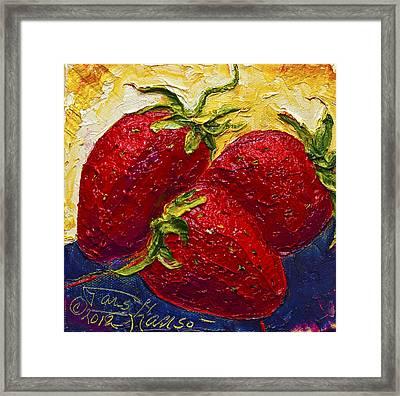 Red Strawberries II Framed Print by Paris Wyatt Llanso