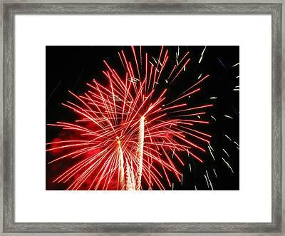 Red Streaks In The Night Framed Print by Steven Parker