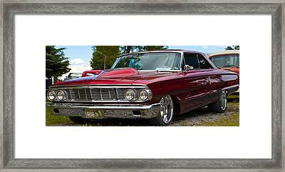 Framed Print featuring the photograph Red Street Car Rod by Mick Flynn