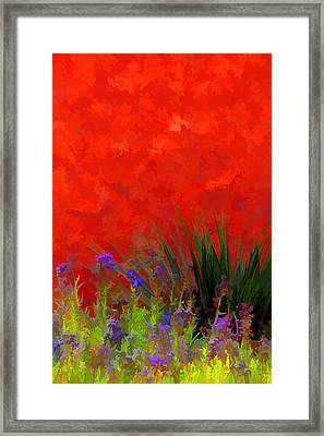 Red Stucco Wall Framed Print