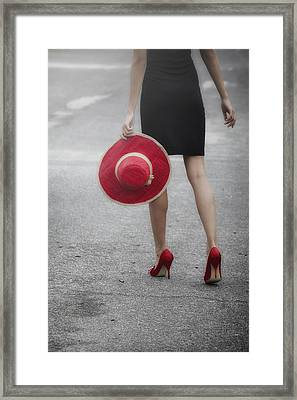 Red Sun Hat Framed Print