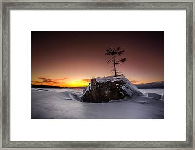 Red Sun Framed Print by Jakub Sisak