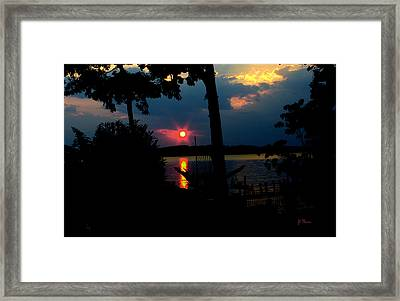 Framed Print featuring the photograph Red Sun by James C Thomas