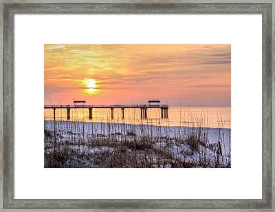 Red Sun Rising Framed Print by JC Findley