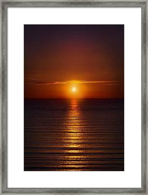 Red Sunrise At Mornin Framed Print
