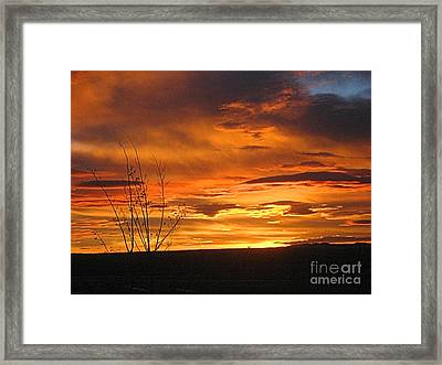 Red Sunrise Framed Print