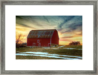 Red Sunrise Framed Print by Thomas Zimmerman