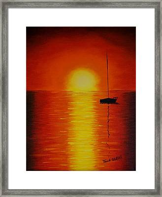 Red Sunset 1 Framed Print by Tina Stoffel